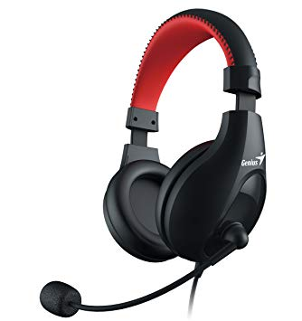 CASTI GENIUS HS-520 CU MICROFON NOISE CANCELLING, GAMING, BLACK&RED