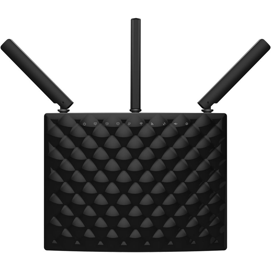 ROUTER WIRELESS DUAL BAND AC1900 3 ANTENE 1900MBPS, TENDA AC15